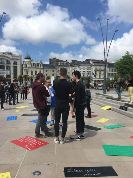 intervenir dans espace public