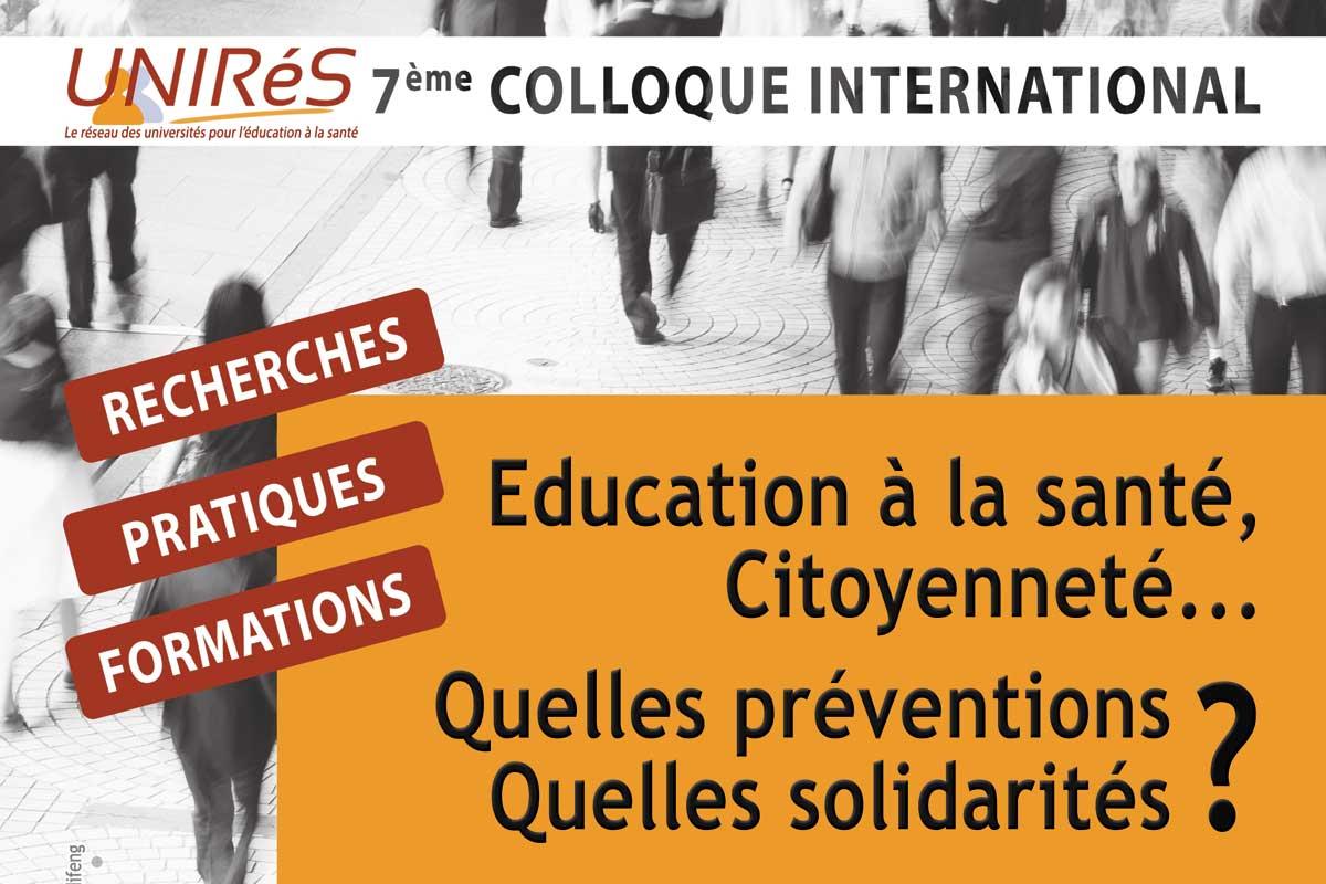 affiche colloque UNIRéS