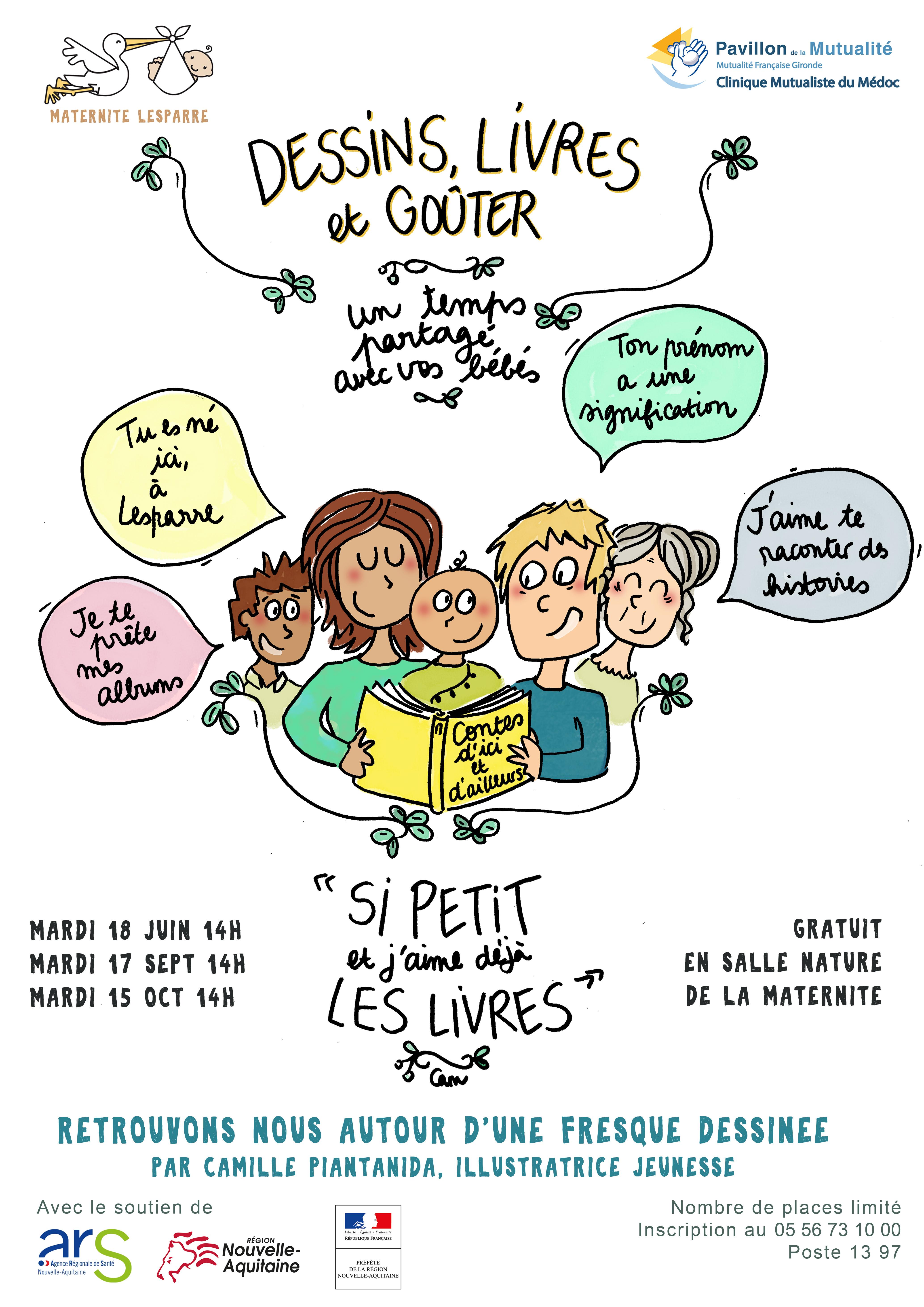 ateliers dessins, lecture et goûter maternité de Lesparre