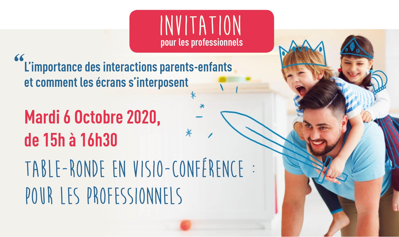 """Visio-conférence """"Interactions parents-enfants et écrans"""""""